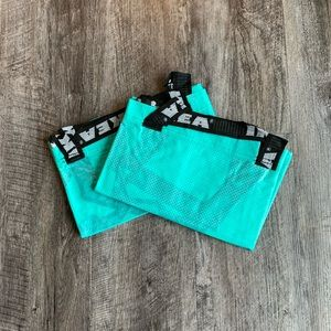 (2) Pack of IKEA Teal / Turquoise Bags